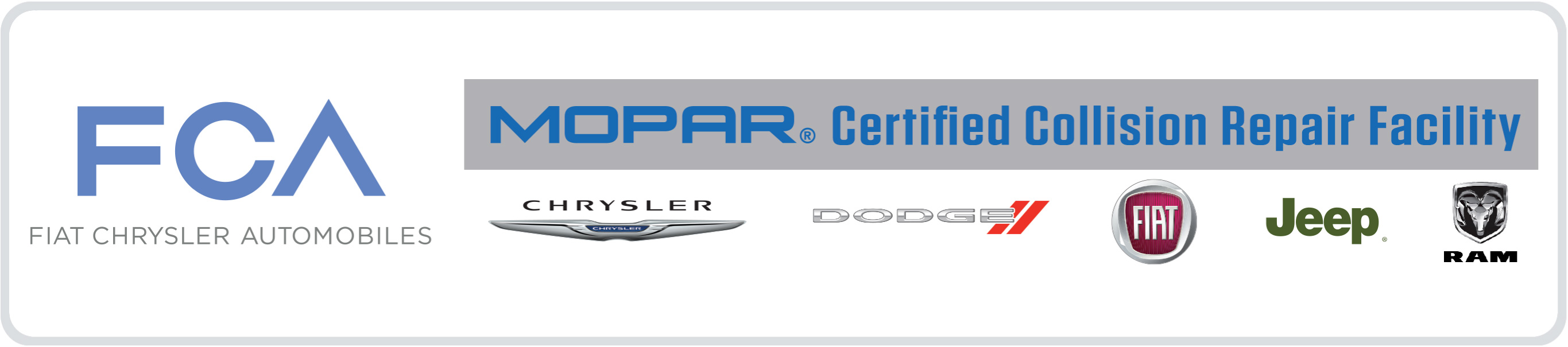 FCA MOPAR Certified Collision Repair Facility